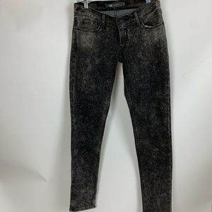 Levi's Gray Black Acid Wash 524 Jeans Juniors 3